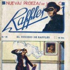 Cómics: NUEVAS PROEZAS DE RAFFLES Nº 30 : EL SUICIDIO DE RAFFLES. Lote 50888602