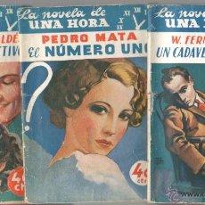 Cómics: LA NOVELA DE UNA HORA - 1936 - NºS 1 AL 9 Y 11 - ZAMACOIS, CONCHA ESPINA, PEMAN, INSUA, SALAVERRÍA,. Lote 51775175