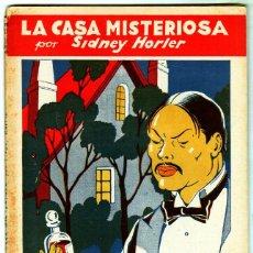Cómics: LA NOVELA QUINCENAL Nº 33 - LA CASA MISTEROSA POR SIDNEY HORLER- AÑO 1942 HISPANO AMERICANA. Lote 55040582