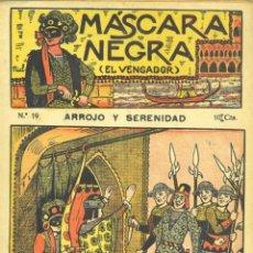 Cómics: MÁSCARA NEGRA Nº19. AVENTURAS Y VIAJES. EDITORIAL EL GATO NEGRO. DIBUJOS DE NIEL. Lote 57496461