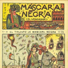 Cómics: MÁSCARA NEGRA Nº40 (EL VENGADOR). EDITORIAL EL GATO NEGRO (ÚLTIMO NÚMERO). DIBUJOS DE NIEL. Lote 58014217
