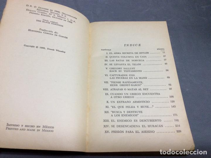 Cómics: LA BARONESA NEGRA / DENNIS WHEATLEY. NOVARO, JOYAS DE BOLSILLO, Nº 329. AÑO 1968 - Foto 2 - 64607915