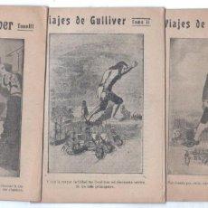 Cómics: VIAJES DE GULLIVER - 1,2,3 - 16,5 X 11,5 CMS - 32 PÁGINAS CADA UNO. Lote 66787686
