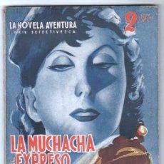 Cómics: LA NOVELA AVENTURA SERIE DETECTIVESCA Nº 186 - HYMSA 1940 - JUAN BOMMART - LA MUCHACHA DEL EXPRESO D. Lote 66789918