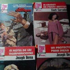 Cómics: BUEN LOTE DE 4 BOLSILIBROS SERIE POLICIACO AÑOS 80, MUY BUEN ESTADO. Lote 66968146