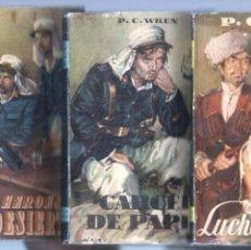 Cómics: P.C.WREN - 3 LIBROS - 1952 - LUCHA EN LA SOMBRA, - CÁRCEL DE PAPEL - LOS HÉROES DEL DESIERTO. Lote 68178053