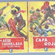 Cómics: COLECCION ESPADACHIN EDI VALENCIANA AÑOS 40-50 -A.CIENFUEGOS - NºS 1 Y 2,CAPA ROJA,MAESE CUCHILLADA. Lote 68270237