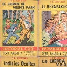 Cómics: SERIE AMARILLA DE AVENTURAS Y MISTERIO - J.S.FLETCHER - 1944 NºS - 11,36,40,45. Lote 68424045