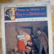 Cómics: MEMORIAS ÍNTIMAS DEL REY DE LOS DETECTIVES Nº 18 EN LA TUMBA, JUNTO A LA MÁQUINA INFERNAL. Lote 50351342