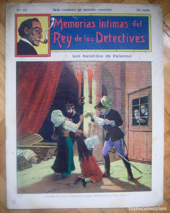 MEMORIAS ÍNTIMAS DEL REY DE LOS DETECTIVES Nº 63 LOS BANDIDOS DE PALERMO (Tebeos, Comics y Pulp - Pulp)