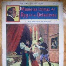 Cómics: MEMORIAS ÍNTIMAS DEL REY DE LOS DETECTIVES Nº 63 LOS BANDIDOS DE PALERMO. Lote 69984129