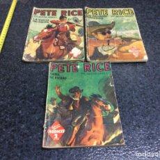 Cómics: PETE RICE - CUBIL DE FIERAS - LA VUELTA DEL HALCON - MALVADOS RUNNISONS- ED. MOLINO. Lote 70595213