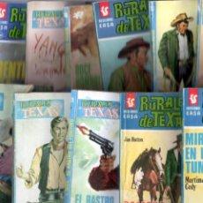 Cómics: RURALES DE TEXAS LOTE DE 12 NOVELAS - LOUIS ROCK,JAN HUTTON,MORTIMER CODY,CHAS DICK,RICHARD JACKSON. Lote 71572011