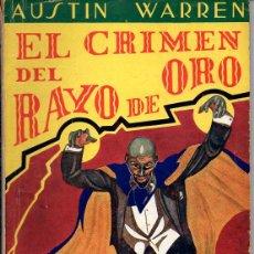 Cómics: AUSTIN WARREN : EL CRIMEN DL RAYO DE ORO - LA NOVELA AVENTURA DETECTIVES (1940). Lote 72161479