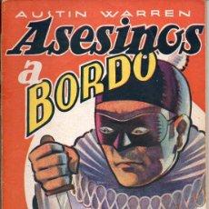 Cómics: AUSTIN WARREN : ASESINOS A BORDO - LA NOVELA AVENTURA DETECTIVES. Lote 72161791