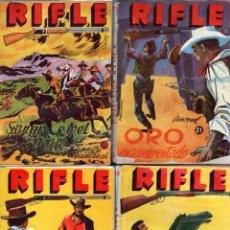 Cómics: COLECCION RIFLE NºS 18, 19, 20, 21 - EDICIONES RAMOS 1955 - EDWARD GOODMAN, EDDIE THORNY. Lote 82234892