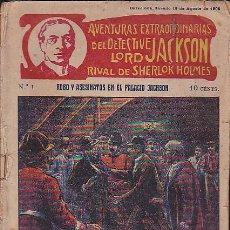 Cómics: LOTE DE 51 FOLLETINES AVENT. EXTRA. DEL DETECTIVE LORD JACKSON RIVAL SHERLOK HOLMES FALTA Nº 26. Lote 88958148