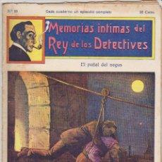 Cómics: MEMORIAS INTIMAS DEL REY DE LOS DETECTIVES. Nº 25. EDITORIAL ATLANTE 191?.. Lote 90835485