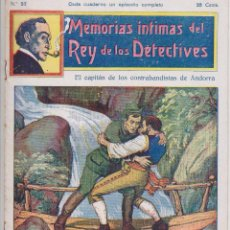Cómics: MEMORIAS INTIMAS DEL REY DE LOS DETECTIVES. Nº 23. EDITORIAL ATLANTE 191?.. Lote 90835620