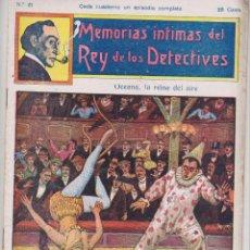 Cómics: MEMORIAS INTIMAS DEL REY DE LOS DETECTIVES. Nº 21. EDITORIAL ATLANTE 191?.. Lote 90835755