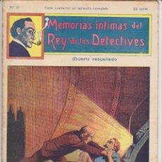 Cómics: MEMORIAS INTIMAS DEL REY DE LOS DETECTIVES. Nº 19. EDITORIAL ATLANTE 191?.. Lote 90835885