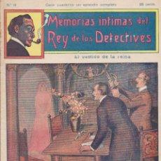 Cómics: MEMORIAS INTIMAS DEL REY DE LOS DETECTIVES. Nº 14. EDITORIAL ATLANTE 191?.. Lote 90836445