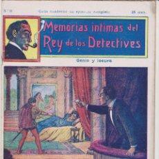Cómics: MEMORIAS INTIMAS DEL REY DE LOS DETECTIVES. Nº 11. EDITORIAL ATLANTE 191?.. Lote 90836640