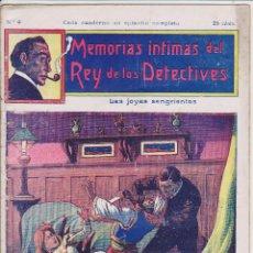 Cómics: MEMORIAS INTIMAS DEL REY DE LOS DETECTIVES. Nº 9. EDITORIAL ATLANTE 191?.. Lote 90836710