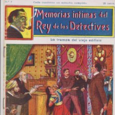 Cómics: MEMORIAS INTIMAS DEL REY DE LOS DETECTIVES. Nº 7. EDITORIAL ATLANTE 191?.. Lote 90836885