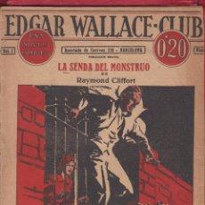 Cómics: EDGAR WALLACE CLUB LA SENDA DEL MONSTRUO POR RAYMOND CLIFFORT 15 PAGS IMP. VILLARROEL TE12. Lote 93654140