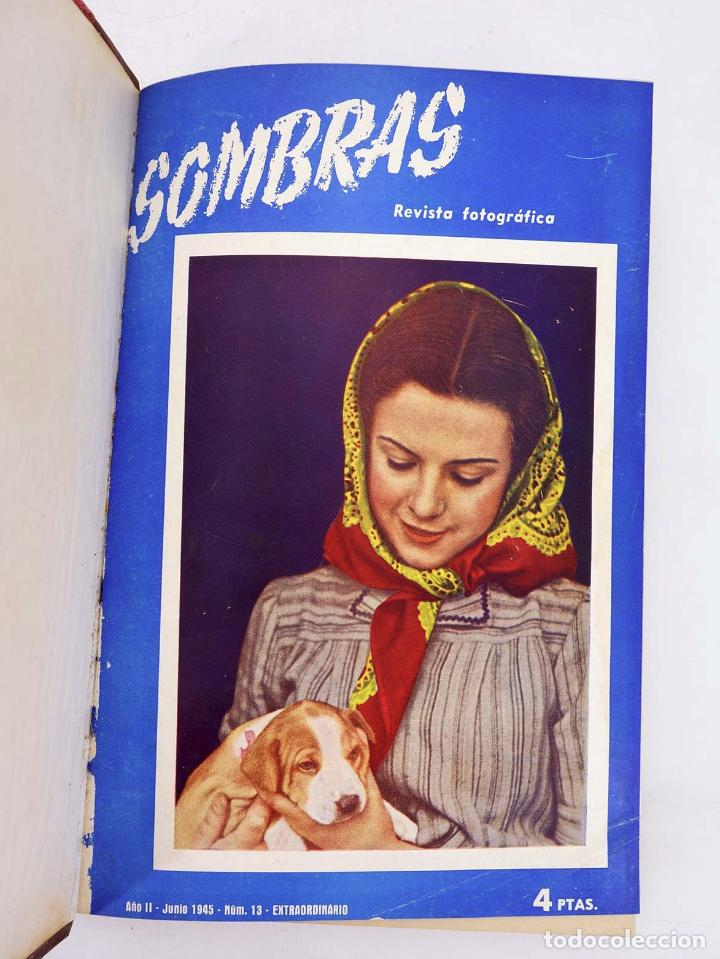 Cómics: SOMBRAS. REVISTA FOTOGRÁFICA NºS 13 A 24 ENCUADERNADOS EN UN TOMO. BUEN ESTADO, 1945 - Foto 4 - 97781452