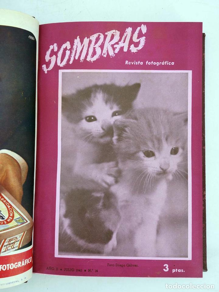 Cómics: SOMBRAS. REVISTA FOTOGRÁFICA NºS 13 A 24 ENCUADERNADOS EN UN TOMO. BUEN ESTADO, 1945 - Foto 6 - 97781452