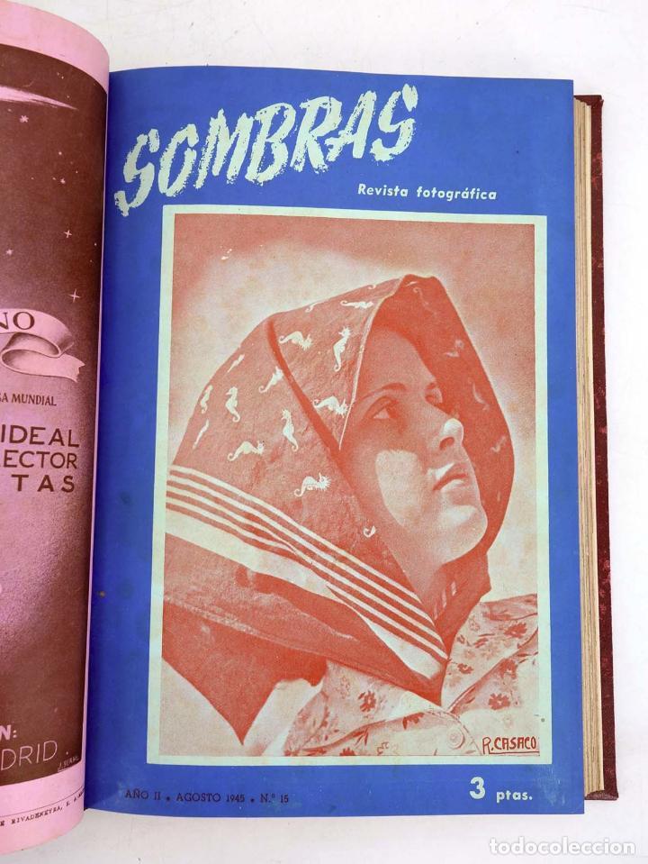 Cómics: SOMBRAS. REVISTA FOTOGRÁFICA NºS 13 A 24 ENCUADERNADOS EN UN TOMO. BUEN ESTADO, 1945 - Foto 7 - 97781452