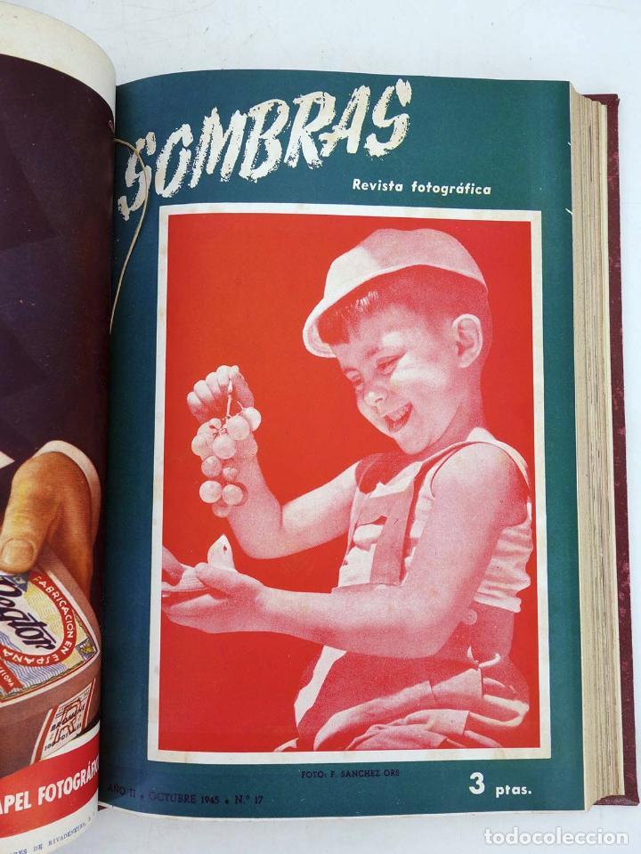 Cómics: SOMBRAS. REVISTA FOTOGRÁFICA NºS 13 A 24 ENCUADERNADOS EN UN TOMO. BUEN ESTADO, 1945 - Foto 8 - 97781452