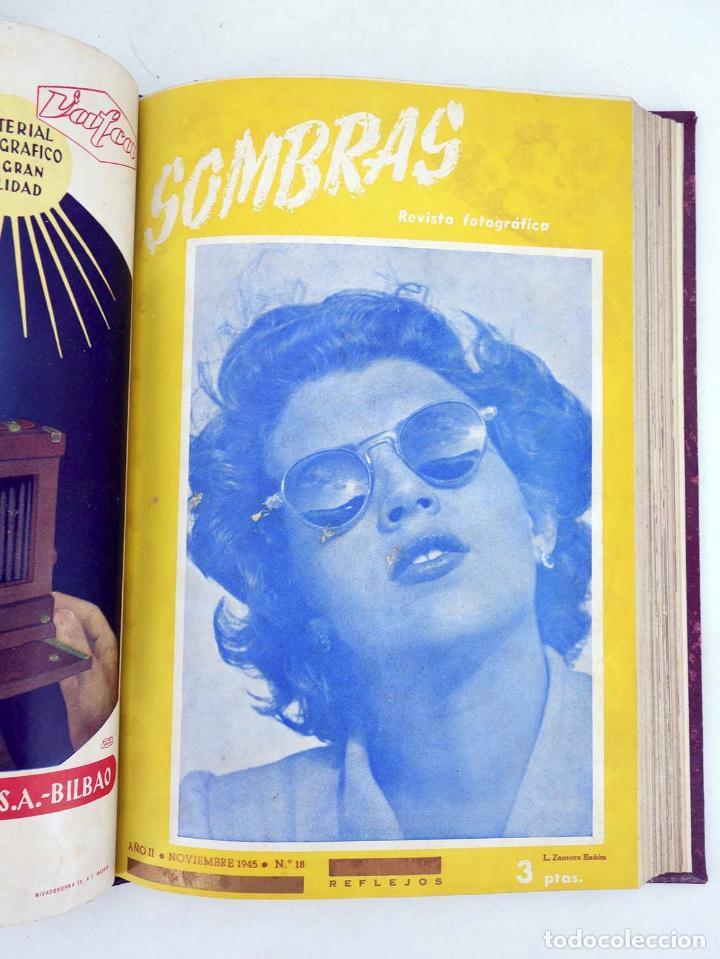 Cómics: SOMBRAS. REVISTA FOTOGRÁFICA NºS 13 A 24 ENCUADERNADOS EN UN TOMO. BUEN ESTADO, 1945 - Foto 9 - 97781452