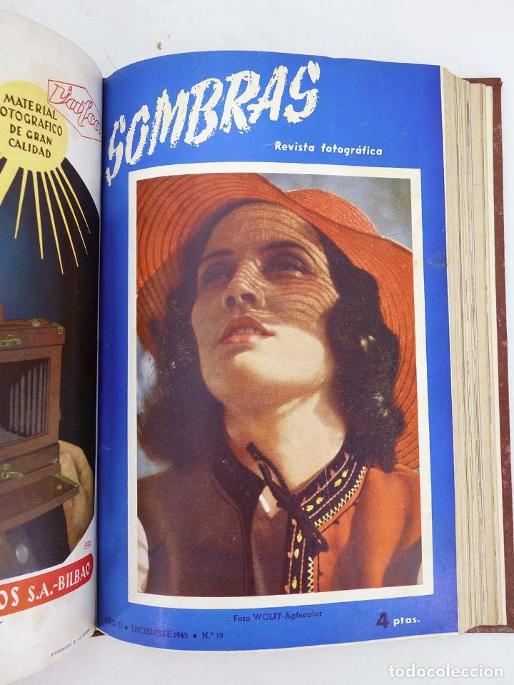Cómics: SOMBRAS. REVISTA FOTOGRÁFICA NºS 13 A 24 ENCUADERNADOS EN UN TOMO. BUEN ESTADO, 1945 - Foto 10 - 97781452