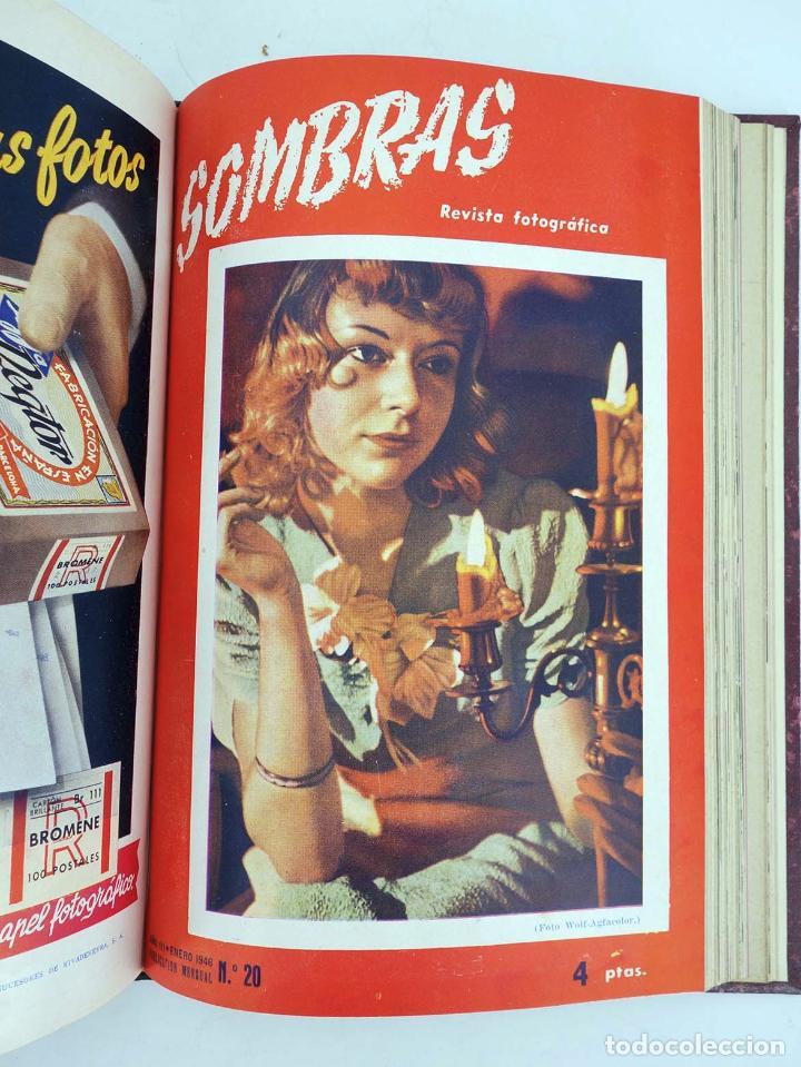 Cómics: SOMBRAS. REVISTA FOTOGRÁFICA NºS 13 A 24 ENCUADERNADOS EN UN TOMO. BUEN ESTADO, 1945 - Foto 11 - 97781452