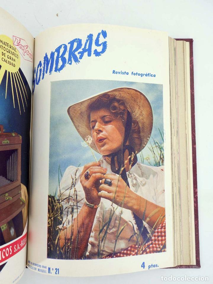 Cómics: SOMBRAS. REVISTA FOTOGRÁFICA NºS 13 A 24 ENCUADERNADOS EN UN TOMO. BUEN ESTADO, 1945 - Foto 12 - 97781452
