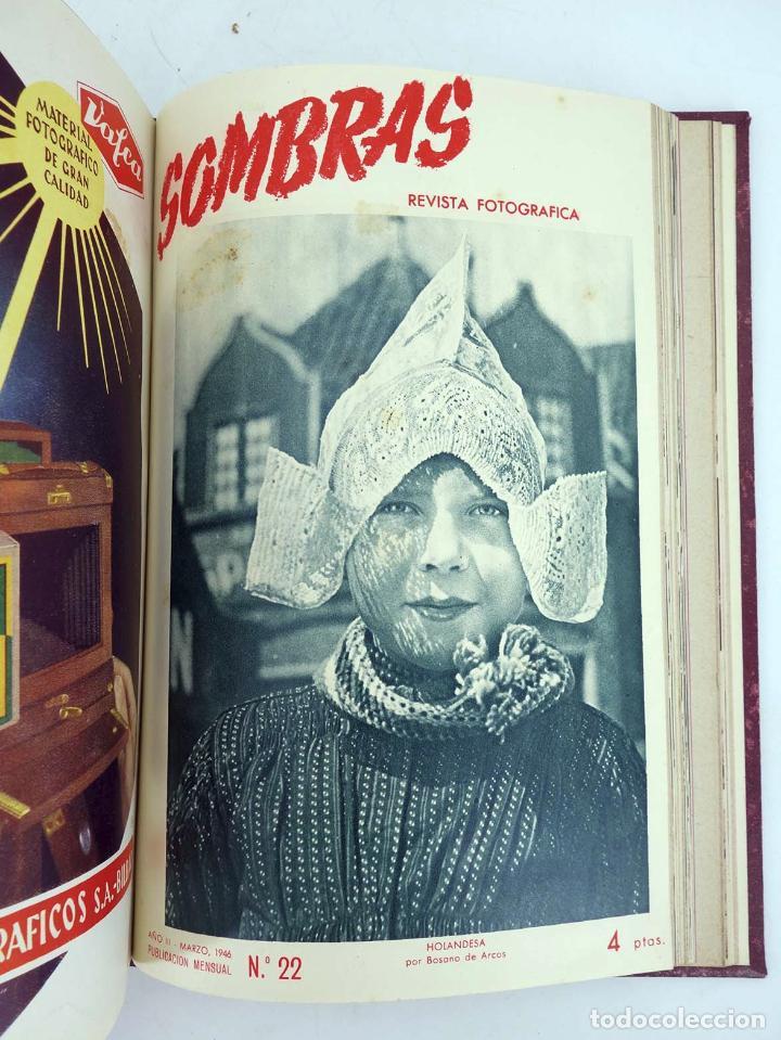 Cómics: SOMBRAS. REVISTA FOTOGRÁFICA NºS 13 A 24 ENCUADERNADOS EN UN TOMO. BUEN ESTADO, 1945 - Foto 13 - 97781452