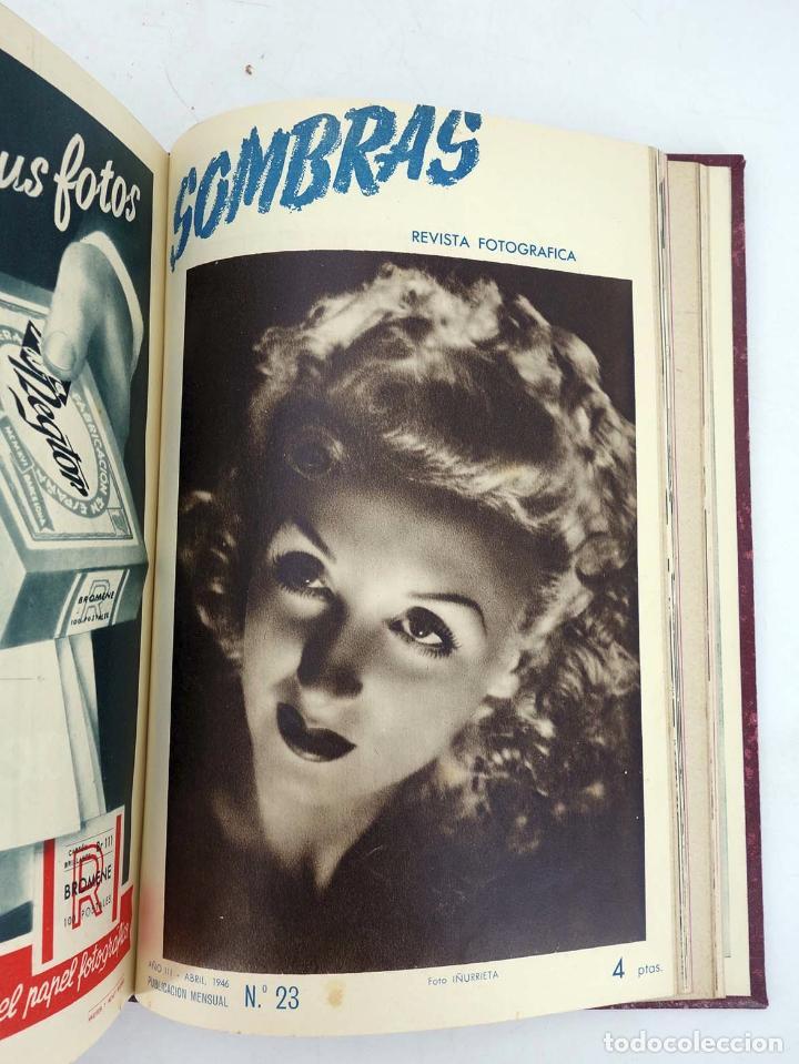Cómics: SOMBRAS. REVISTA FOTOGRÁFICA NºS 13 A 24 ENCUADERNADOS EN UN TOMO. BUEN ESTADO, 1945 - Foto 14 - 97781452