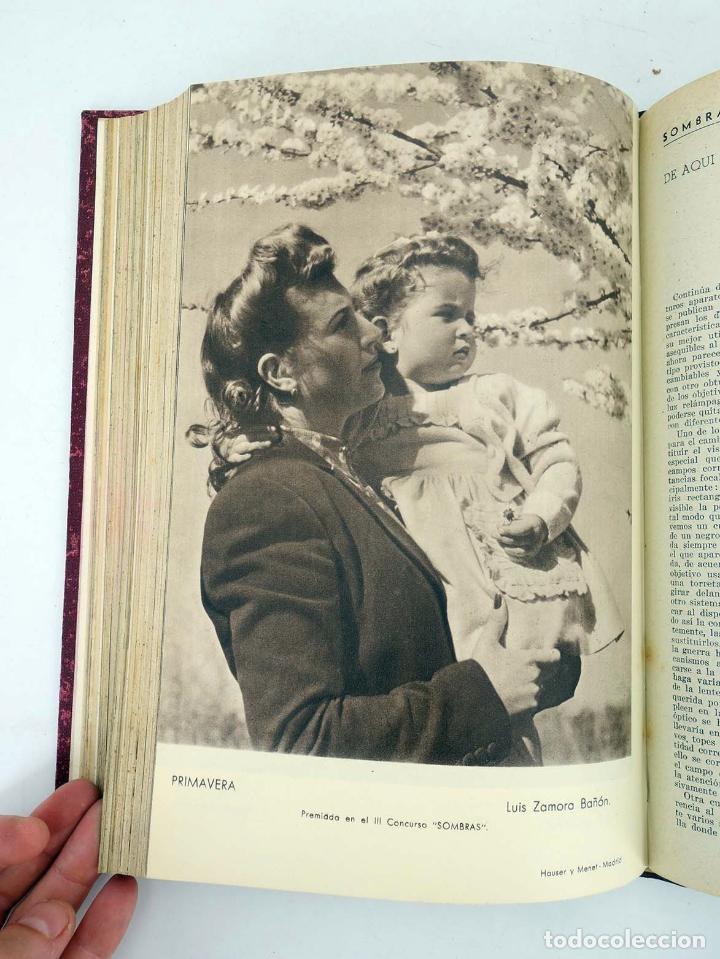 Cómics: SOMBRAS. REVISTA FOTOGRÁFICA NºS 13 A 24 ENCUADERNADOS EN UN TOMO. BUEN ESTADO, 1945 - Foto 19 - 97781452