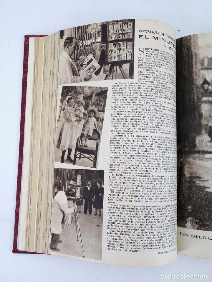 Cómics: SOMBRAS. REVISTA FOTOGRÁFICA NºS 13 A 24 ENCUADERNADOS EN UN TOMO. BUEN ESTADO, 1945 - Foto 21 - 97781452
