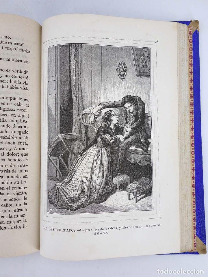 Cómics: LOS DESHEREDADOS. DESVENTURAS DE LA VIDA COMPLETA EN DOS TOMOS. 1240 págs (Manuel Fernández y Gonzál - Foto 5 - 97781544
