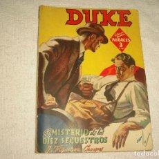 Cómics: COLECCION HOMBRES AUDACES N° 26 . DUKE . EL MISTERIO DE LOS 10 SECUESTROS . ED. MOLINO. Lote 98867427