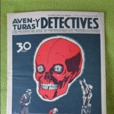 Cómics: AVENTURAS Y DETECTIVES - HYMSA 1936 - LOTE TRES EJEMPLARES - NUMERO 2 - 7 - 12. Lote 101320135