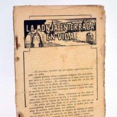 Cómics: LA MONJA ENTERRADA EN VIDA O SECRETO DE CONFESION (NO ACREDITADO) EL GATO NEGRO, 1920. Lote 100519388