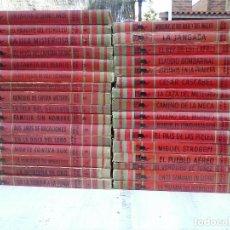 Cómics: COLECCION MOLINO - 32 LIBROS - JULIO VERNE - KARL MAY - 1952 - 21 X 16 CMS.. Lote 101408263