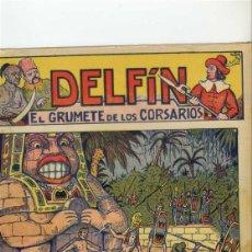 Cómics: DELFIN EL GRUMETE D ELOS CORSARIOS. GATO NEGRO. 16 EJEMPLARES.COMPLETA. ILUSTRACIONES NIEL. Lote 103951299