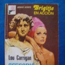 Cómics: ASESORIA POLITICA LOU CARRIGAN BOLSILIBROS ARCHIVO SECRETO BRIGITTE EN ACCION Nº 234 BRUGUERA. Lote 104013751