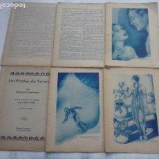 Cómics: LOS PIRATAS DE VENUS - EDGAR RICE BURROUGHS - BLANCO Y NEGRO 1925 - COMPLETA. Lote 108751391